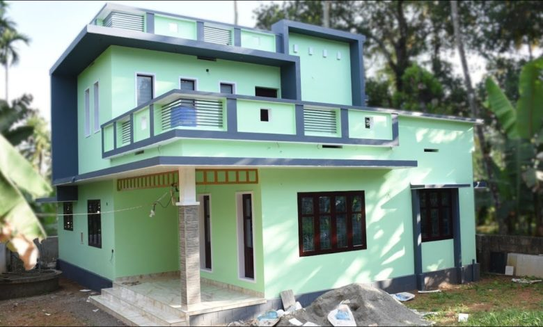 1600 Sq Ft 3BHK Contemporary Style Two-Storey House at 5.5 Cent Plot