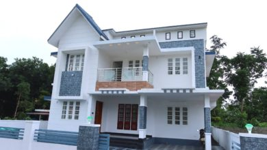 Photo of 1750 Sq Ft 4BHK Contemporary Style Two-Storey House at 5 Cent Plot
