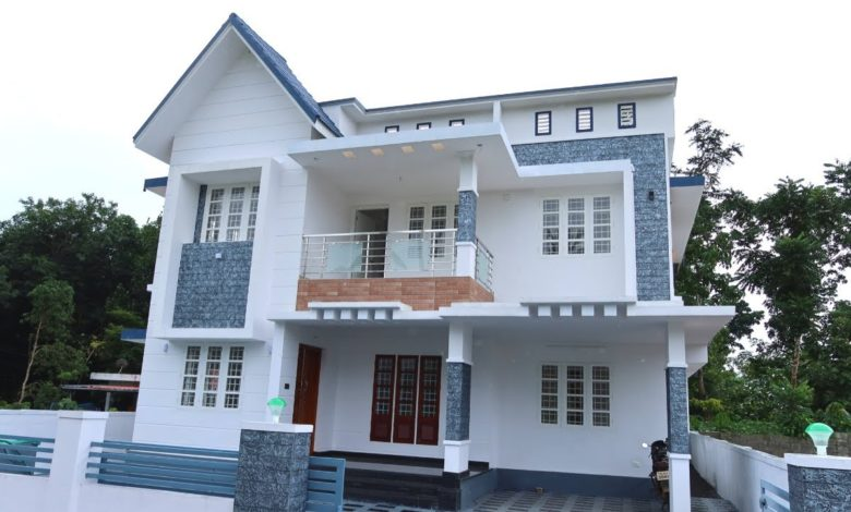 1750 Sq Ft 4BHK Contemporary Style Two-Storey House at 5 Cent Plot