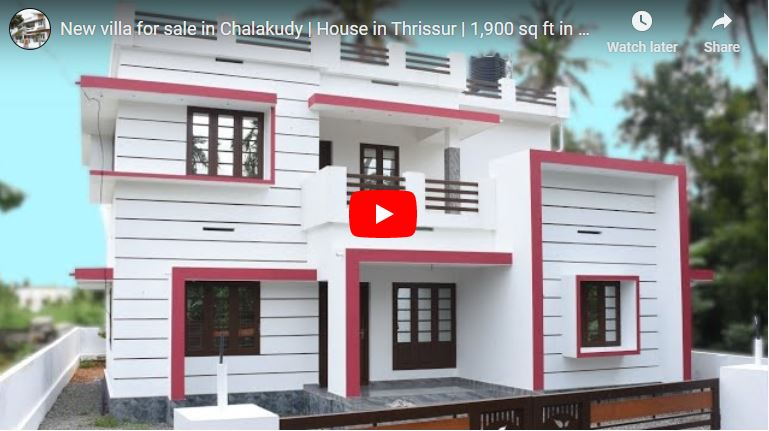 1900 Sq Ft 4BHK Modern Two-Storey House at 7 Cent Plot