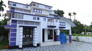 Photo of 2000 Sq Ft 3BHK Contemporary Style Two-Storey House at 8 Cent Plot