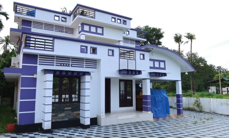 2000 Sq Ft 3BHK Contemporary Style Two-Storey House at 8 Cent Plot