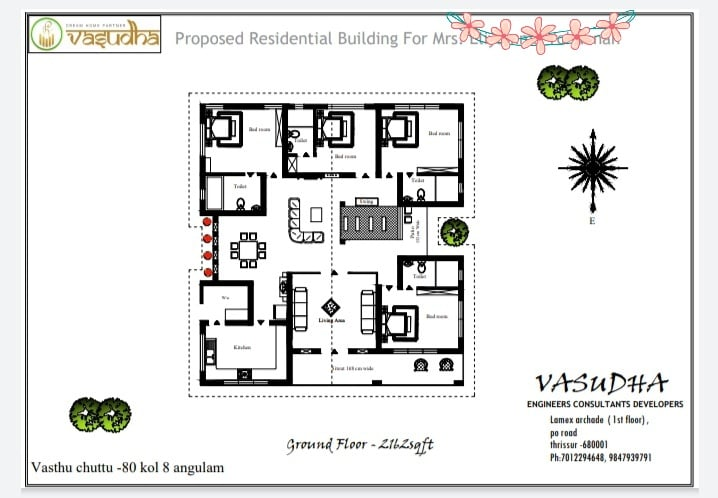 2100 Sq Ft 4BHK Traditional Nalukettu Style Single-Storey House and Free Plan