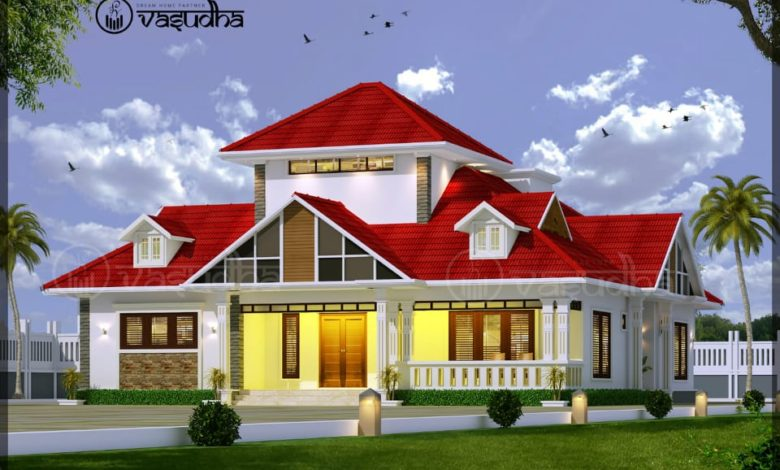 2100 Sq Ft 4BHK Traditional Nalukettu Style Single-Storey House and Free Plan