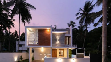 Photo of 2308 Sq Ft 4BHK Box Style Two Floor House at 6 Cent Plot, Free Plan