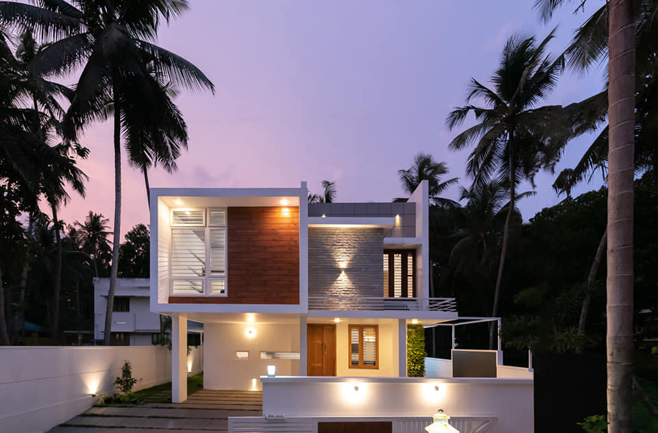 2308 Sq Ft 3BHK Box Style Two Floor House at 6 Cent Plot, Free Plan
