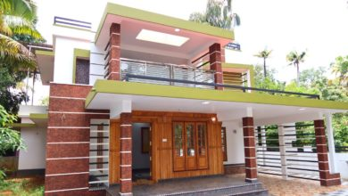 Photo of 2500 Sq Ft 4BHK Contemporary Flat Roof Modern Two-Storey House at 8.5 Cent Plot
