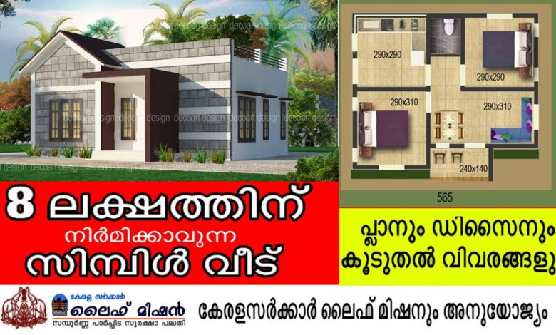 565 Sq Ft 2BHK Modern and Beautiful House and Free Plan, 8 Lacks