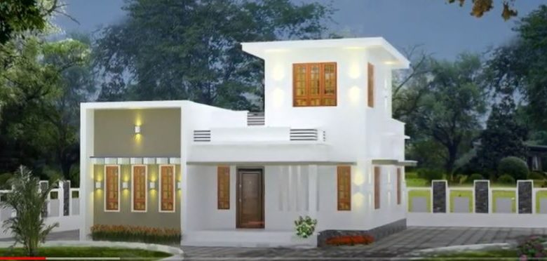 700 Sq Ft 2BHK Single-Storey Modern Flat Roof Type House and Free Plan
