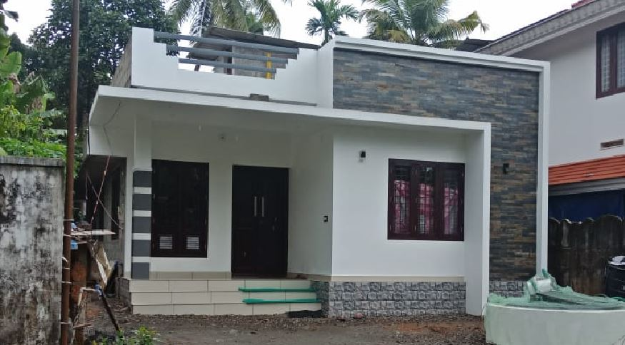750 Sq Ft 2BHK Contemporary Style Single Floor House and Free Plan