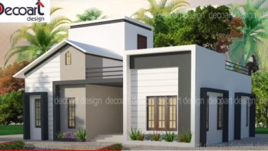 Photo of 850 Sq Ft 2BHK Modern Contemporary Single-Storey House and Free Plan, 10 Lacks