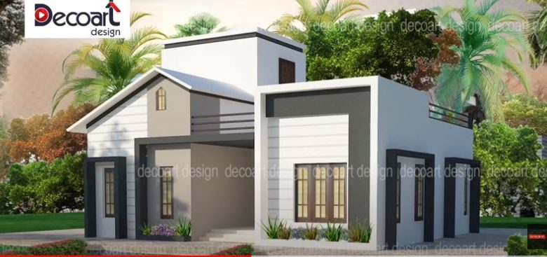 850 Sq Ft 2BHK Modern Contemporary Single-Storey House and Free Plan, 10 Lacks