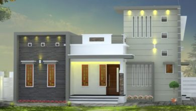Photo of 1000 Sq Ft 3BHK Box Type Modern Single Floor House and Free Plan