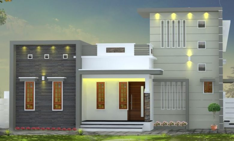 1000 Sq Ft 3BHK Box Type Modern Single Floor House and Free Plan