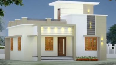 Photo of 1005 Sq Ft 3BHK Modern Single-Storey House and Free Plan