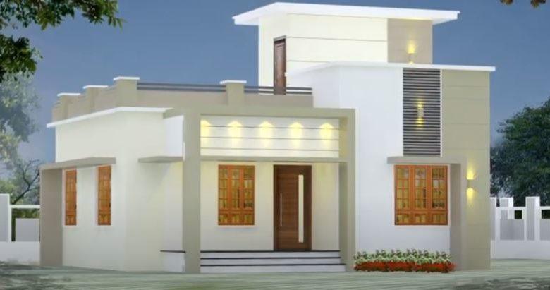 1005 Sq Ft 3BHK Modern Single-Storey House and Free Plan