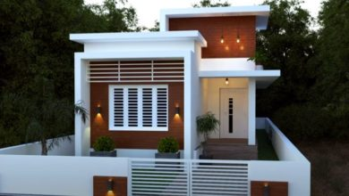 Photo of 1046 Sq Ft 2BHK Contemporary Style Single-Storey House and Free Plan