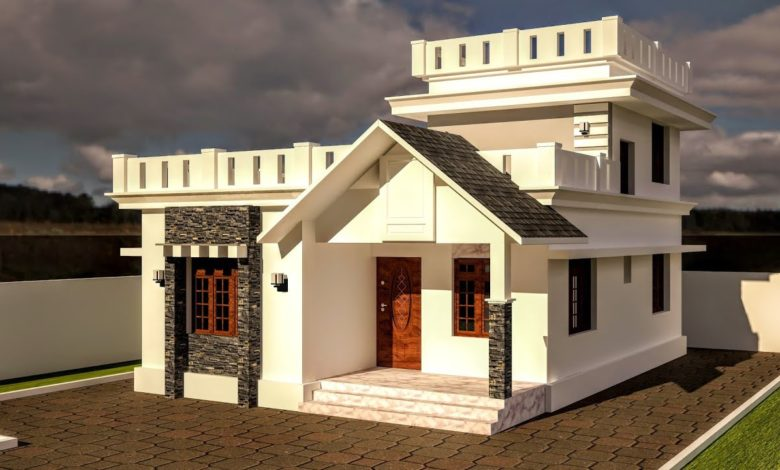 1200 Sq Ft 3BHK Beautiful Two-Storey House and Free Plan