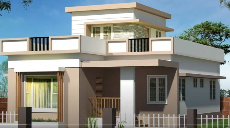 1240 Sq Ft 3BHK Two-Storey Modern Budget House and Free Plan