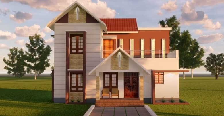 1296 Sq Ft 4BHK Two-Storey Modern House and Free Plan, 20 Lacks
