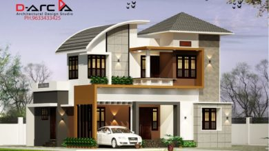 Photo of 1375 Sq Ft 3BHK Contemporary Style Two-Storey House and Free Plan, 20 Lacks