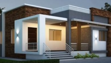 Photo of 1400 Sq Ft 3BHK Contemporary Style Single-Storey House and Free Plan
