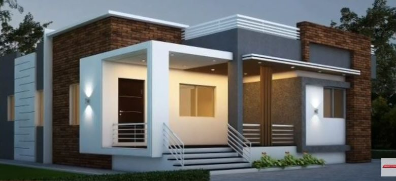 1400 Sq Ft 3BHK Contemporary Style Single-Storey House and Free Plan
