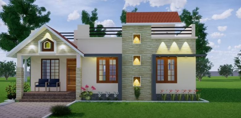 1400 Sq Ft 3BHK Modern Single Floor House and Free Plan, 21 Lacks