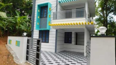 Photo of 1510 Sq Ft 3BHK Flat Roof Modern Double Floor House at 4 Cent Plot