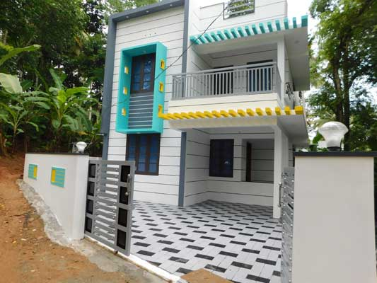 1510 Sq Ft 3BHK Flat Roof Modern Double Floor House at 4 Cent Plot