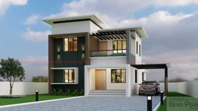 Photo of 1619 Sq Ft 3BHK Contemporary Style Two-Storey House and Free Plan