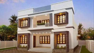 Photo of 1748 Sq Ft 4BHK Contemporary Style Two-Storey House and Free Plan