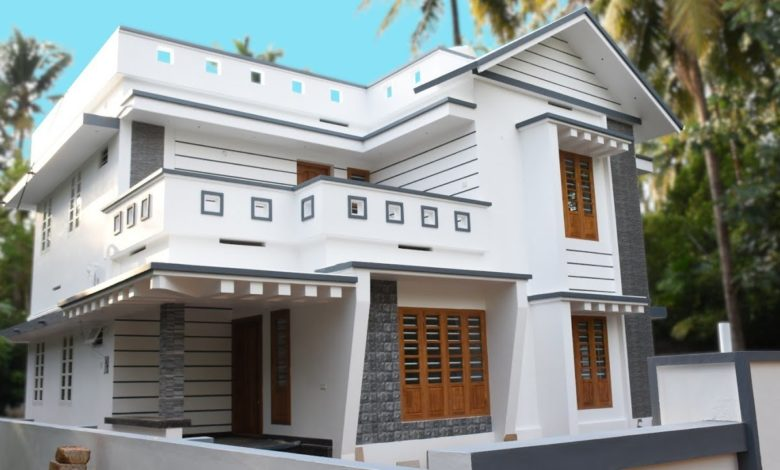 1800 Sq Ft 4BHK Modern Two Floor House at 10 Cent Plot
