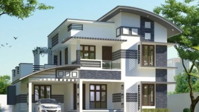Photo of 2056 Sq Ft 3BHK Contemporary Style Two-Storey House and Free Plan