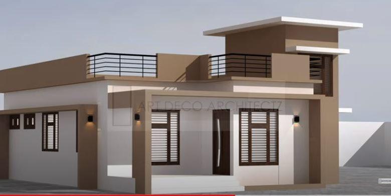 3 Bedroom Single Floor Modern House and Free Plan, Budget 10 Lacks