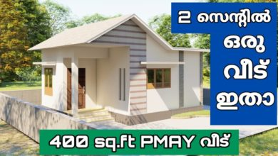 Photo of 400 Sq Ft Single Bedroom Modern Single Floor PMAY House and Free Plan
