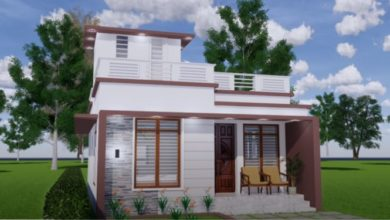 Photo of 600 Sq Ft 2BHK Contemporary Style Single Floor House and Free Plan, 10 Lacks