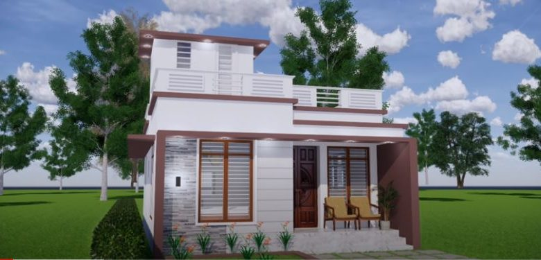 600 Sq Ft 2BHK Contemporary Style Single Floor House and Free Plan, 10 Lacks