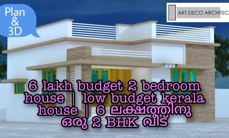 600 Sq Ft 2BHK Modern and Single Floor House and Free Plan, 6 Lacks