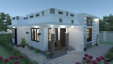 Photo of 670 Sq Ft 2BHK Modern and Beautiful Single-Storey House and Free Plan