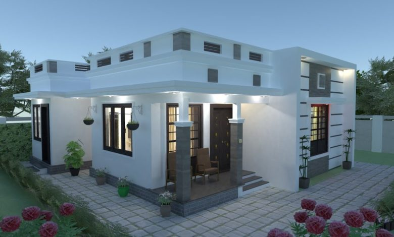 670 Sq Ft 2BHK Modern and Beautiful Single-Storey House and Free Plan