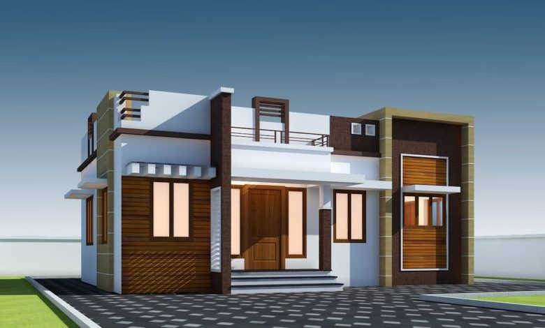 696 Sq Ft 2BHK Single Floor Modern House and Free Plan