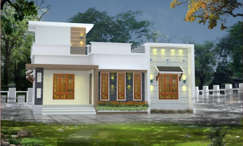 750 Sq Ft 2BHK Modern Single-Storey House and Free Plan