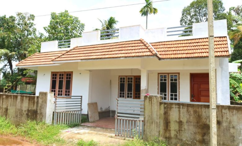 850 Sq Ft 2BHK Traditional Style Single Floor House at 3 Cent Plot
