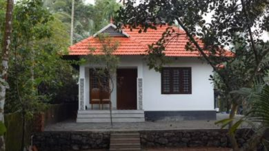 Photo of 896 Sq Ft 3BHK Single Floor Kerala Style Low Budget House and Free Plan