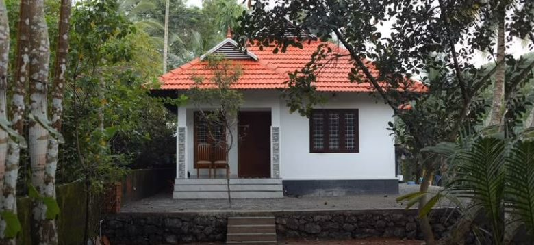 896 Sq Ft 3BHK Single Floor Kerala Style Low Budget House and Free Plan
