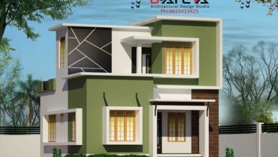 Photo of 935 Sq Ft 3BHK Contemporary Style Two-Storey House and Free Plan, 13 Lacks
