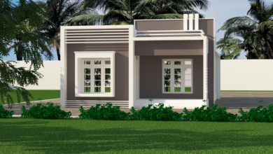 Photo of 940 Sq Ft 2BHK Modern Single-Storey House and Free Plan
