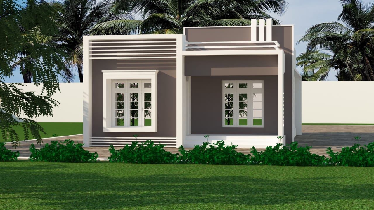 940 Sq Ft 2BHK Modern Single-Storey House and Free Plan