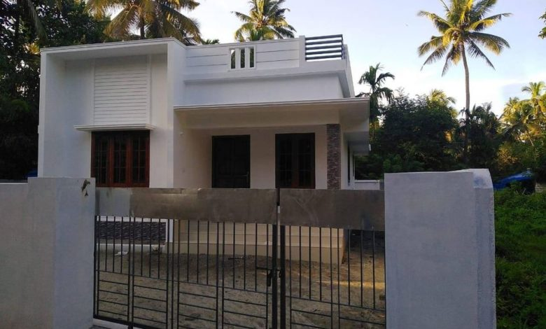 950 Sq Ft 2BHK Simple Modern Single Floor House and Free Plan